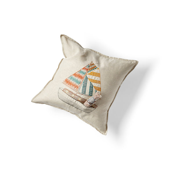 Sailboat Pocket Pillow
