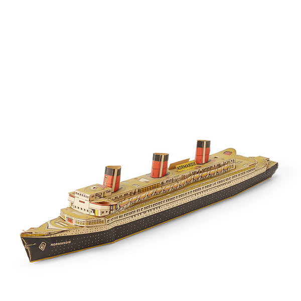 Paper Boat Model: SS Normandie