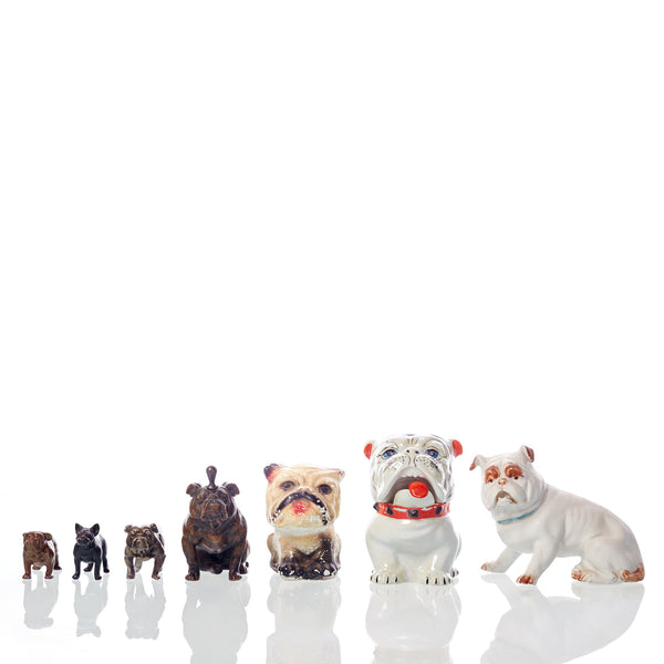 Collection of Seven Vintage Bulldog Figures