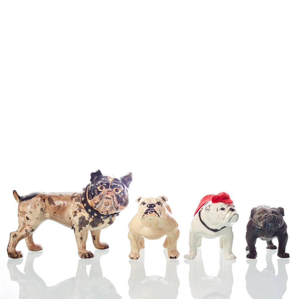 Collection of Four Vintage Bulldog Figures