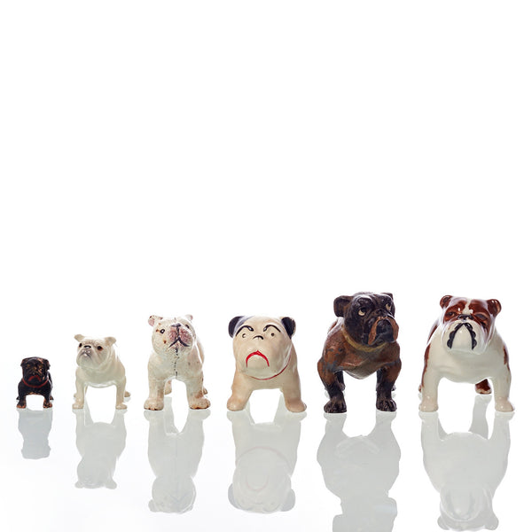 Collection of Six Vintage Bulldog Figures