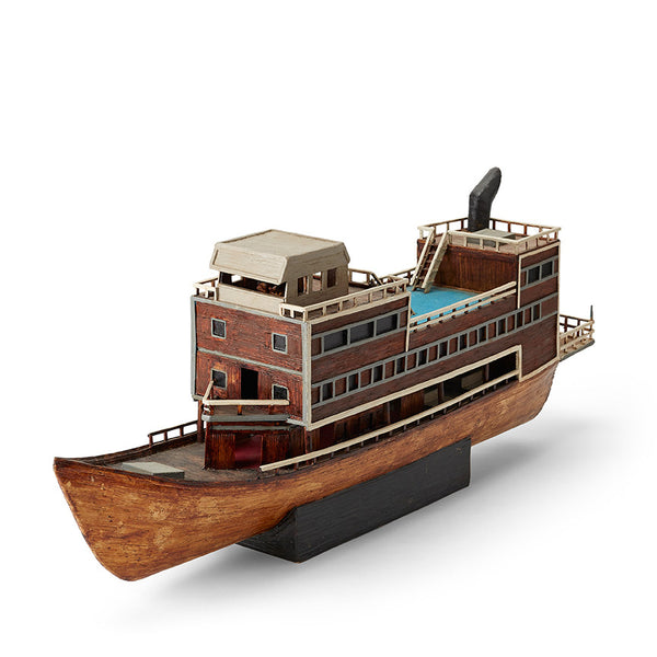Structural Boat Model: Matchstick Steamer