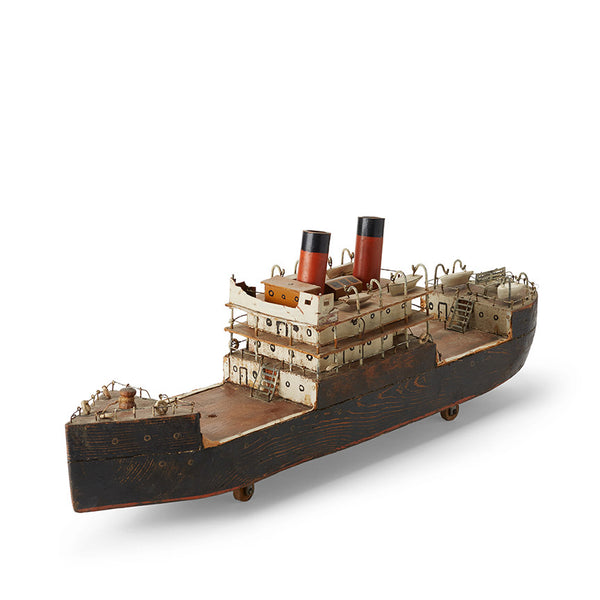 Structural Boat Model: Wooden Freight Steamer