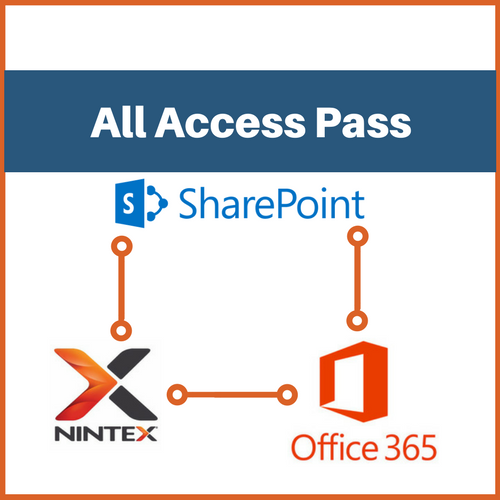 All Access Pass (1-year): Nintex Forms, Nintex Workflow, Nintex for O365 and SharePoint