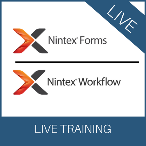 Live Nintex Forms & Nintex Workflow Training (3 days)