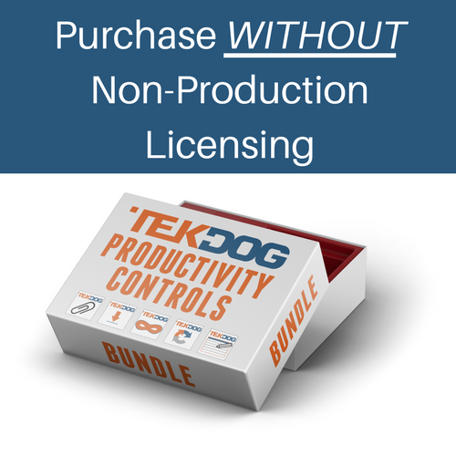 Productivity Controls WITHOUT Non-Production Licensing