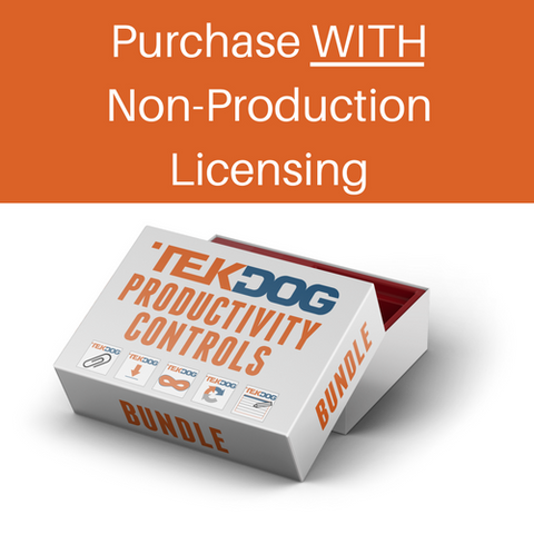 Productivity Controls WITH Non-Production Licensing