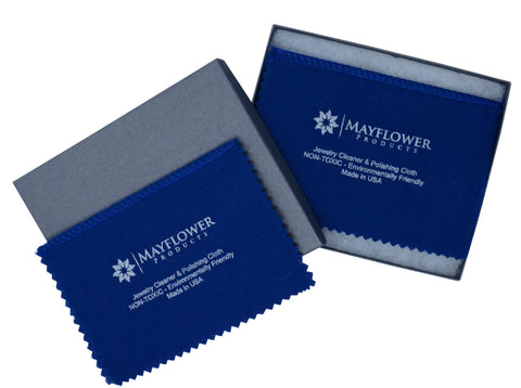 "Polishing Cloth Set of Two 8"" x 6"" Cloths & Gift Box"