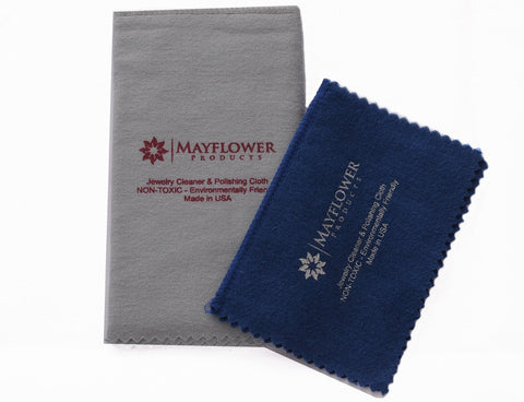 "Two Sizes Polishing Cloth Set: One 11""x 14"", One 8""x 6"""