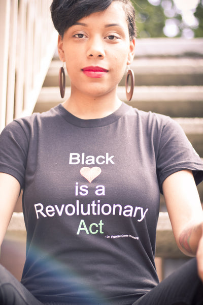 Women's Black Love is a Revolutionary Act Black T-Shirt