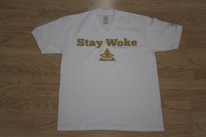 Men's Stay Woke White V-Neck