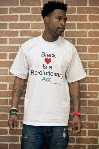 Men's Black Love is a Revolutionary Act T-Shirt