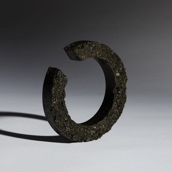 Coal Raw Cut-out Bangle