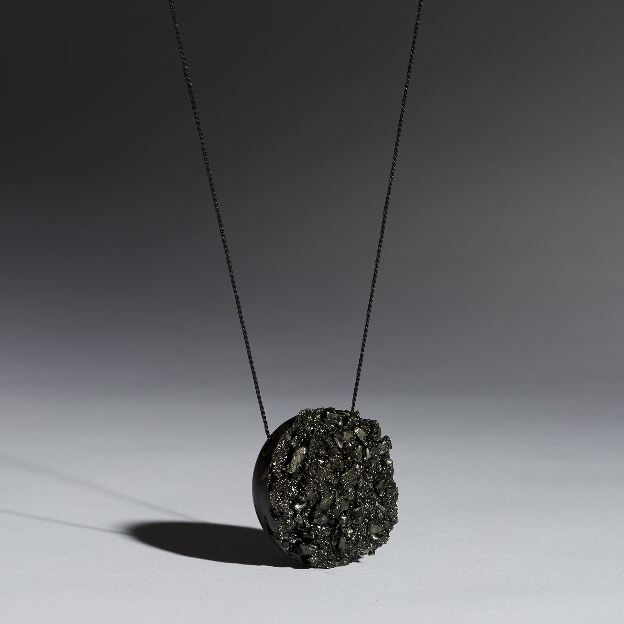 Cracked Coal Pendant
