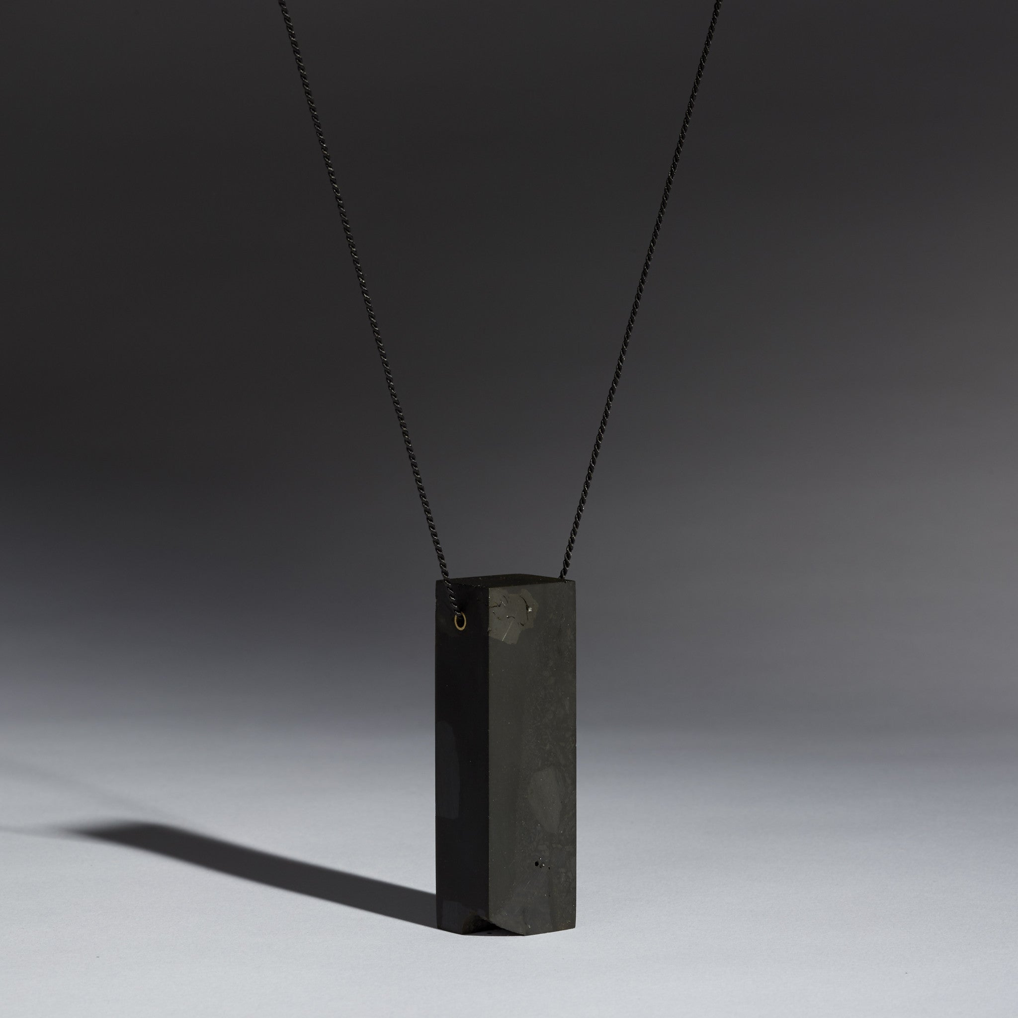 Coal Block Pendant