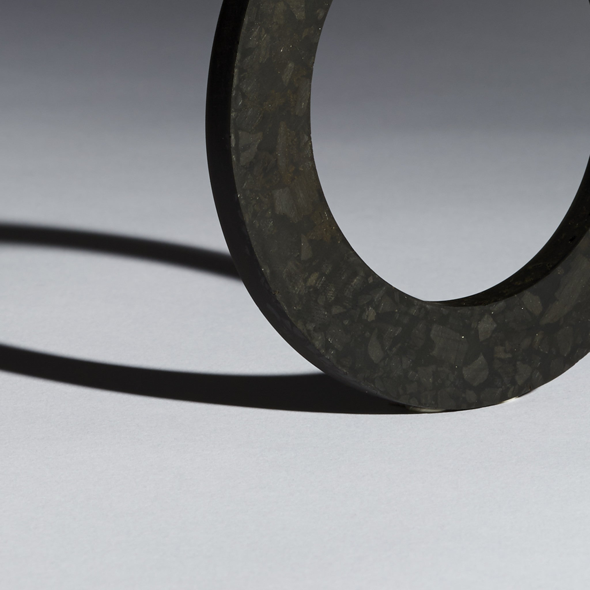 Thin Coal Mosaic Bangle