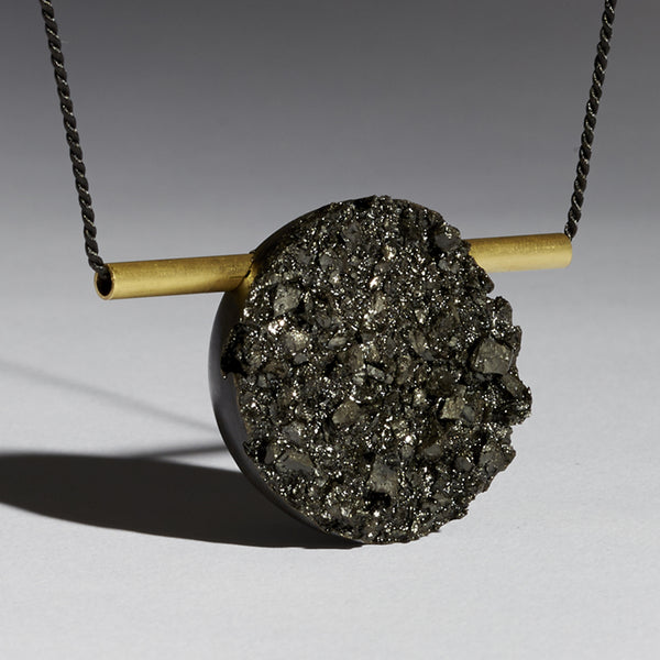 Raw Coal Graphic Pendant