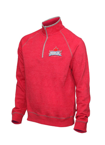 Campus Crew 1/4 Zip Sweater - Red