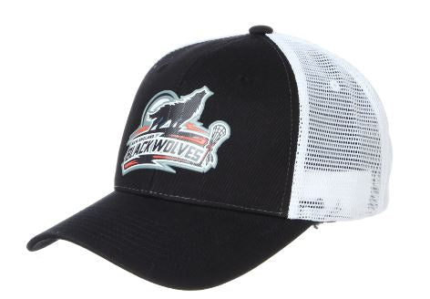 NEW ENGLAND BLACK WOLVES CUSTOM BIG RIG SNAP BACK (AVAILABLE IN STORE)