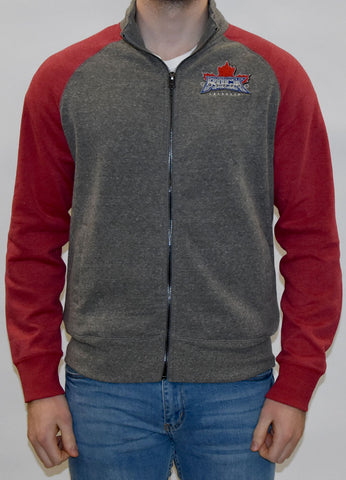 Campus Crew Two-Tone Crew Neck Sweater