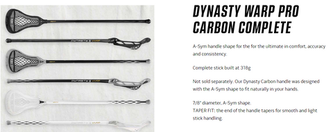 WARRIOR DYNASTY WARP PRO CARBON - COMPLETE STICK