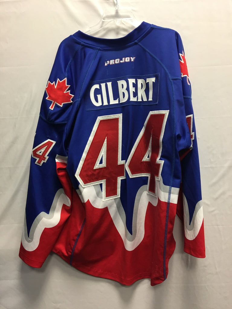 2014 Blue Game Worn Jersey - Jeff Gilbert