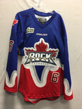 2014 Blue Exhibition Worn Jersey - Jordan Robertson