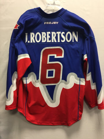 2013 Blue Game Worn Jersey - Phil Sanderson