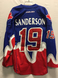 2014 Blue Game Worn Jersey - Josh Sanderson