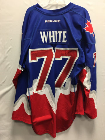 2013 White Game Worn Jersey - Cam Woods
