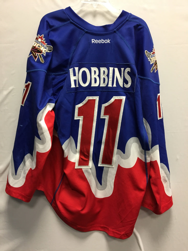 2013 Blue Game Worn Jersey - Mike Hobbins