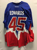 2013 Blue Game Worn Jersey - Damon Edwards