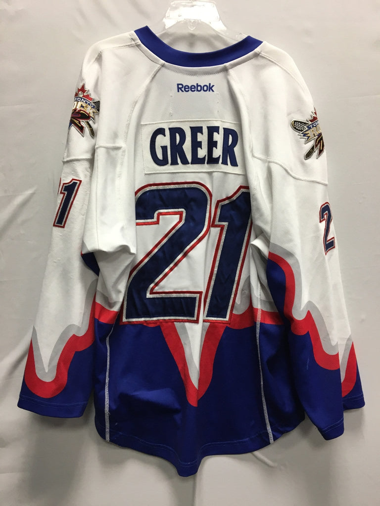 2013 White Game Worn Jersey - Bill Greer