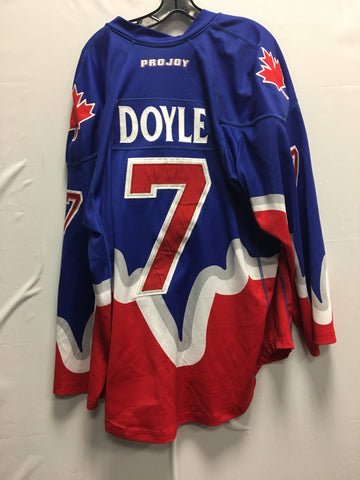 2015 Blue Game Worn Jersey - Colin Doyle