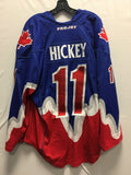 2015 Blue Game Worn Jersey - Brett Hickey