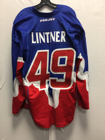 2015 Blue Exhibition Worn Jersey - Dan Lintner
