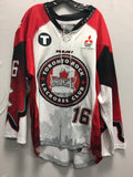 2015 Canadian Themed Game Worn Jersey - Jordan Robertson
