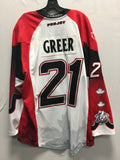 2016 Canadian Themed Game Worn Jersey - Bill Greer