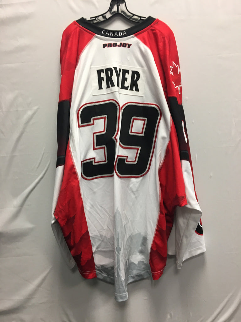 2016 Canadian Themed Game Worn Jersey - Steve Fryer