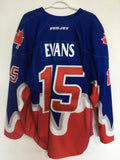 2017 Blue Game Worn Jersey - Turner Evans