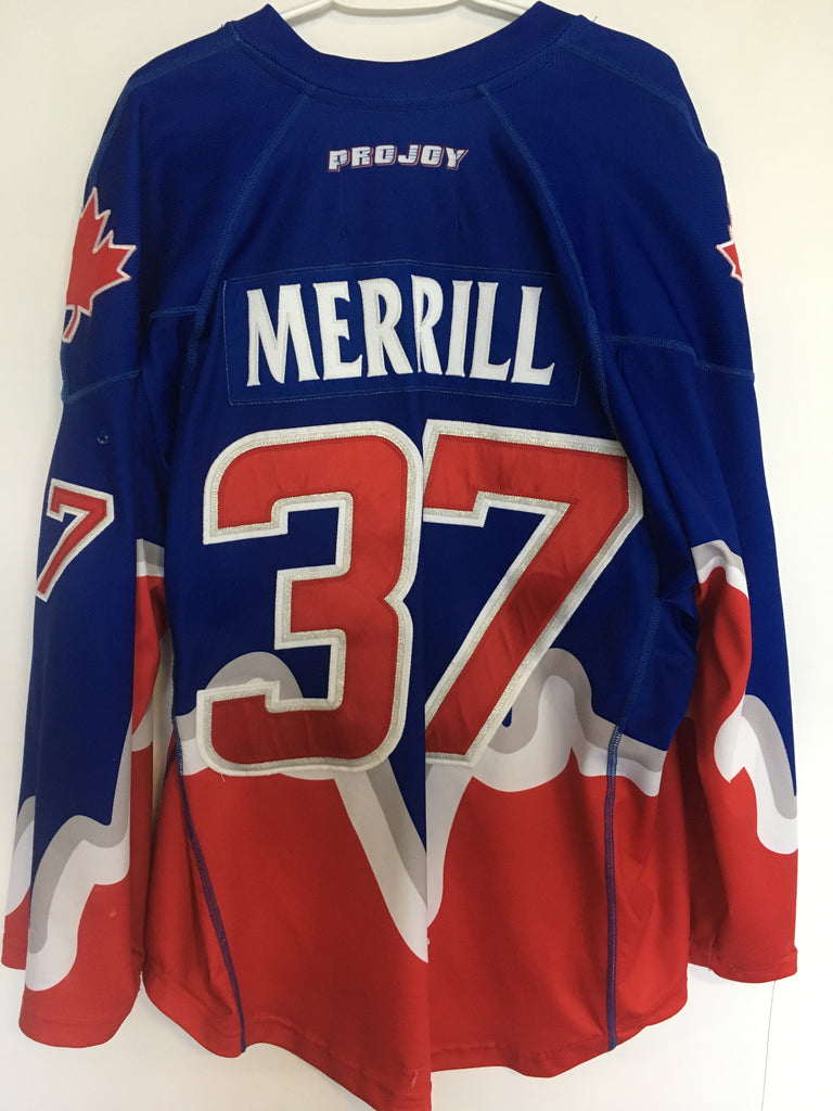 2017 Blue Game Worn Jersey - Brodie Merrill
