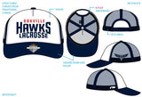 HAWKS - CUSTOM SNAP BACK STRUCTURED MESH HAT
