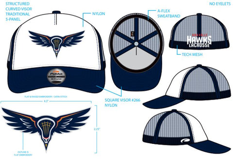 HAWKS - CUSTOM FITTED STRUCTURED MESH HAT