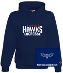 HAWKS - CHAMPION POWERBLEND HOODY (STACKED LOGO)