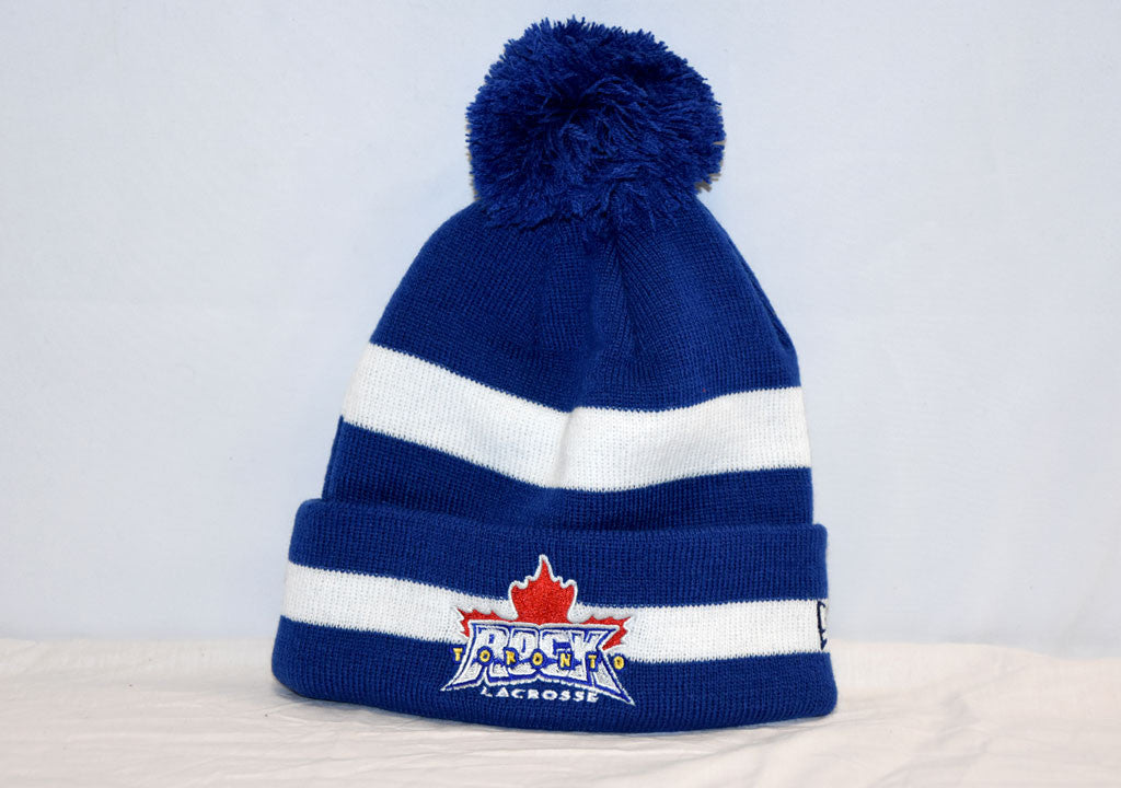 New Era Stripe Pom-Pom Toque