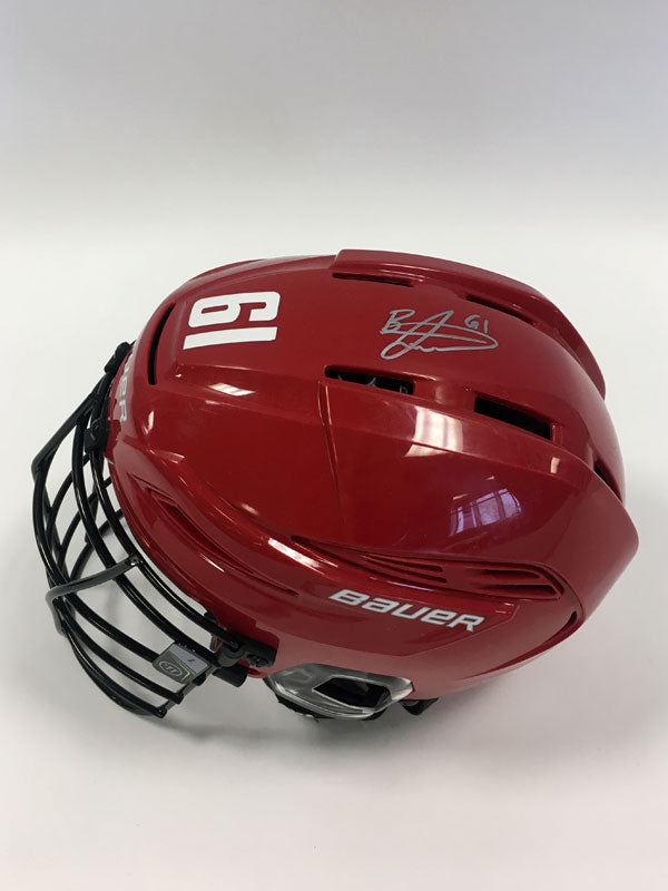 2018 20th Anniversary Signed Gameworn Helmet - #61 Brandon Slade
