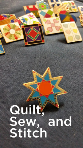 Quilt Lapel Pins & Charms