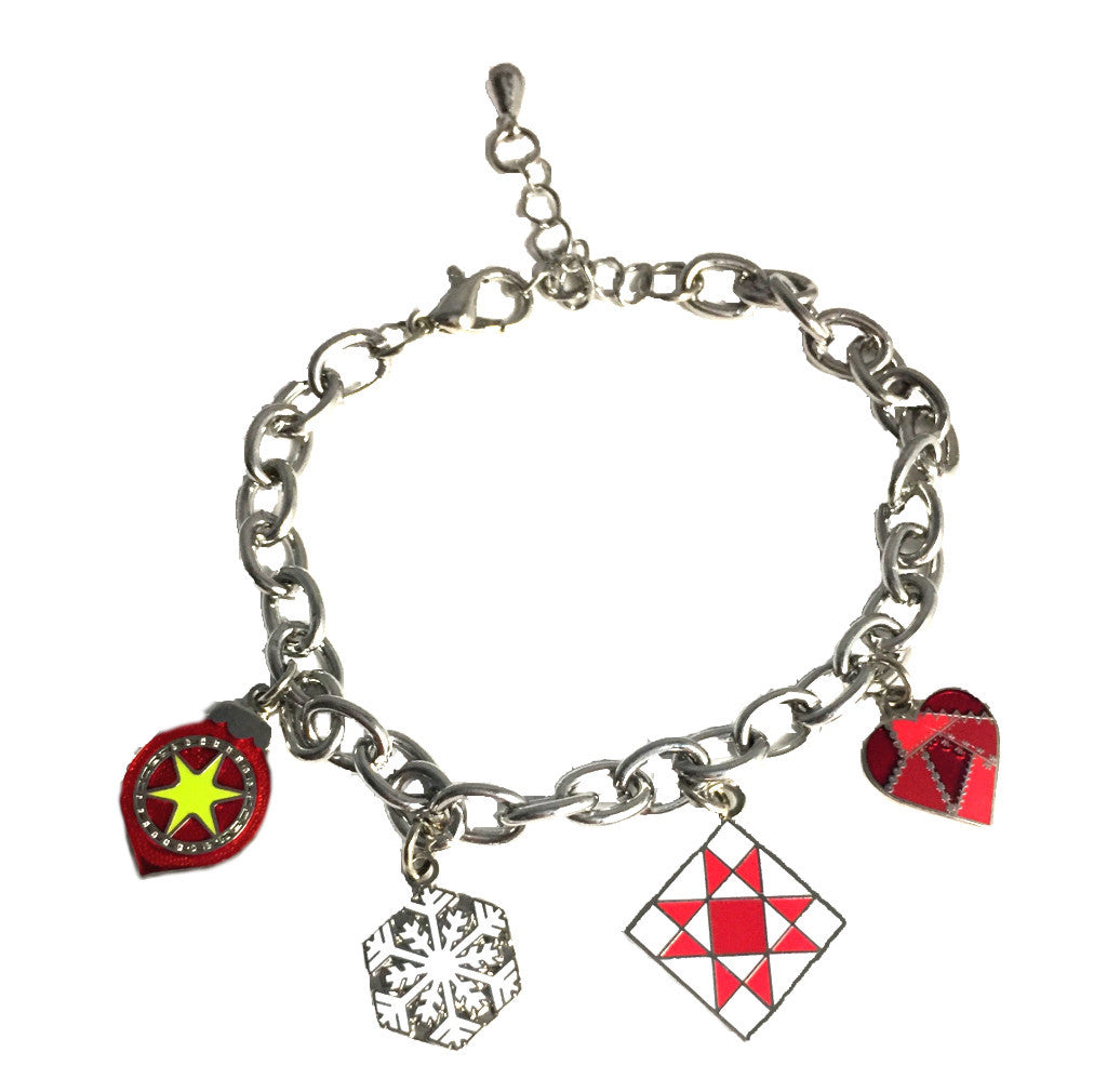 Holiday Rhodium Charm Bracelet