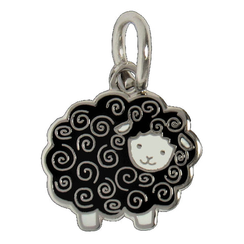 Black Woolly Sheep Charm