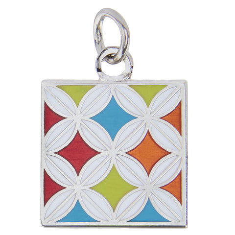 Cathedral Window Charm